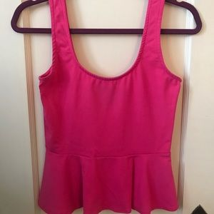 BEBE hot pink peplum top